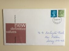 "Post Office First Day Cover ""New Definitive Values"" 1975"
