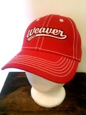 Brand New Embroidered Weaver Leather Ride the Brand Baseball Cap Bright Red