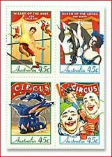 AUS847 150 anniversary of the circus 4 stamps MNH AUSTRALIA 1997