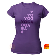 Ladies Yoga Yoga T Shirt - Soft Fitted Tee 100% Cotton Women's Yoga Top