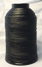 Braided Poly Thread Black Size 415 Waxed 1/4lb for leather, upholstery and more