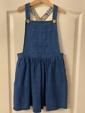Mini Boden Chambray Pinafore Dungaree Dress 7-8yrs