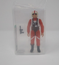 Luke X-Wing Pilot 1978 STAR WARS Graded AFA 80 NM HK Coo J1 New Case