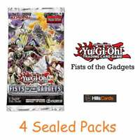 Yu-Gi-Oh Fists of The Gadgets | 4 Sealed Booster Packs | 1st Edition | TCG Cards