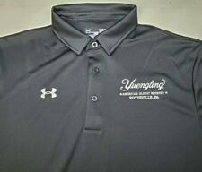 Under Armour Yuengling Beer Brewery Heat Gear Large Loose S/S Black Polo Shirt