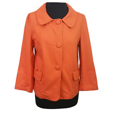 ASOS Jacket Size 10 Orange Cotton Light Holiday Everyday Evening Casual Party *
