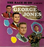 George Jones Vinyl LP Music Disc Records 1969, MDS-1010, The Race Is On ~ VG+