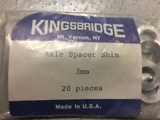 3 mm Bicycle Axel Spacer Shim Alloy Pack Of #20