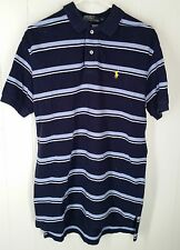 Polo Ralph Lauren blue stro[ed short sleeve Polo shirt men's size M