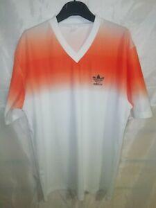 Maglia Calcio Vintage Adidas Orange Soccer Shirt Jersey Camiseta L