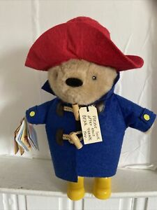 """Yottoy Plush 11"""" PADDINGTON BEAR Red Hat and Yellow Rain Boots New With Tags"""