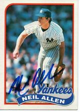 Neil Allen New York Yankees 1989 Topps Signed Card