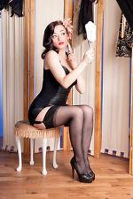 Strapsstrümpfe RHT, Nylons, Gr. XL-6 schwarz  3er Packet, Französische Stockings