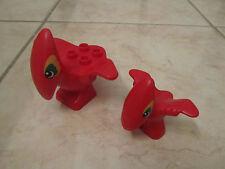 Lego Duplo Dinosaurs Lot Set Pteranodon Rare Red Adult & Baby Lot Set