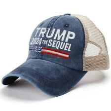 Trump 2024 The Sequel Embroidered Mesh Cap Navy Blue