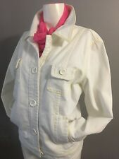 (10-12) ESCADA SPORT JEAN JACKET IN CLASSIC WHITE  MADE IN ITALY            NWOT