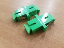 2 x SCAPC to SCAPC Simplex Single Mode Fibre Optic Connector Adapter Coupler