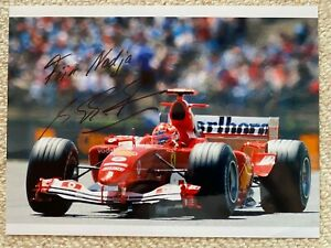 Michael SCHUMACHER: FERRARI F1 autograph, signed photo, RACING