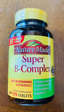 Nature Made Super B-Complex & Vitamin C Metabolic Health 175 Tablets Exp 10/19