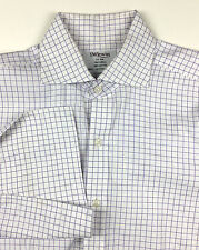 TM LEWIN Men's Luxury French Cuffs Long Sleeve Dress Shirt Sz 15 1/2 - 36 US