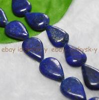 "Natural 13x18mm Egyptian Lapis Lazuli teardrop Gemstone Loose Beads 15"" AAA"