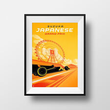 F1 Japanese Grand Prix - Formula 1 Race POSTER - PRINT - Japan