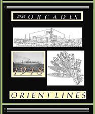 Rms Orcades 1948 Orient Line: Complete Retractable Ga Deck Plans + Profile.New!