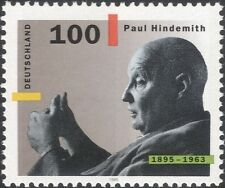 Germany 1995 Paul Hindemith/Music/Composer/Arts/Musician/Violinist 1v (n45979)