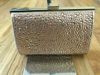INC International Concepts I.N.C. Loryy Embellished Sparkle Clutch Rose Gold