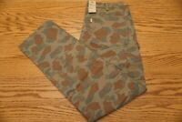 NWT MEN'S LEVI SLIM CARPENTER JEANS PANTS Multiple Sizes Camo Army Green Stretch