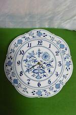 Meissen exklusive große Wand Uhr Zwiebelmuster D = 30,5 cm 1.Wahl ! ........Top!