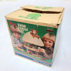 Vintage Star Wars Kenner Preschool Wicket The Ewok Family Hut 1984 Near Complete