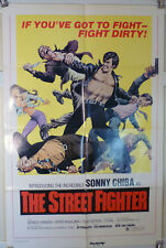 1974 THE STREET FIGHTER - SONNY CHIBA 'S BREAKTHROUGH ROLE -1 SHT KUNG FU POSTER