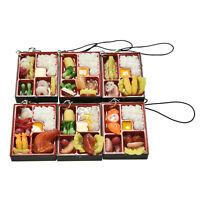 Simulation Sushi Key-Chain Keyring Fake Japanese Food Box Lanyard Keychain_sh