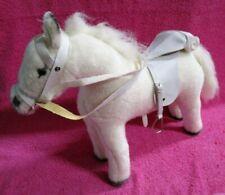 """Pottery Barn Kids By Gotz White Horse Pony Plush 15"""""""