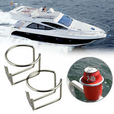 2x Stainless Steel Boat Ring Cup Drink Holder for Marine Yacht Truck Rv-silver