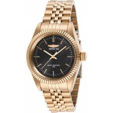 Invicta Women's Watch Specialty Quartz Black Dial Rose Gold Steel Bracelet 29412