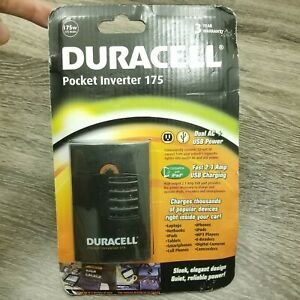 Duracell DRINVP175 Pocket Inverter 175 AC 2.1 Amp USB Power