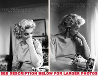 MARILYN MONROE inPRESHOW MAKEUP CHAIR 3x5X7 PHOTOS