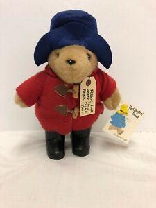 Paddington Bear Stuffed Plush 12 Inches Eden Red Coat Black Rubber Boots