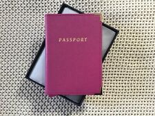 NEW ASPINAL OF LONDON X SPACE NK LIMITED EDITION FUCHSIA PINK PASSPORT HOLDER