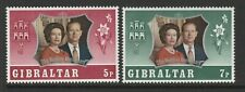 Gibraltar 1972 Royal Silver Wedding set SG 306-307 Mnh.