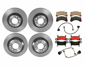 """Brembo Front and Rear Brake Kit Disc Rotors Ceramic Pads For Cayenne 18"""" Wheels"""