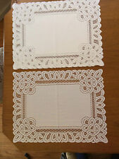 Heritage Lace Ivory Battenburg Design Polyster Square Placemats 4 in set(727)