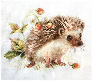 Alisa Cross Stitch Kit - Hedgehog and Strawberries