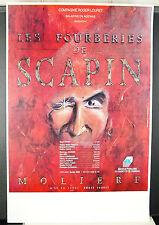 Molière Roger Louret Les fourberies de Scapin Affiche d'exposition