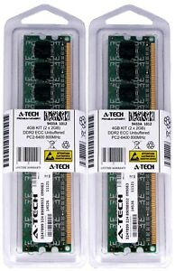 4GB 2 x 2GB PC2-6400 ECC Unbuffered DDR2 800 MHz DIMM Server Memory RAM 2x 2G 4G