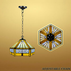 Beautiful Tiffany Style Pendant Light Handcrafted Stained Glass Lamps UK GIFT