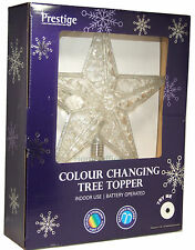 Xmas Christmas Tree Top Topper LED Star Decoration 30cm Colour Changing Prestige