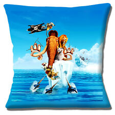 Neuf Glace Âge Film Caractères Sid Scrat Tigre Mammoth 40.6cm Housse Coussin